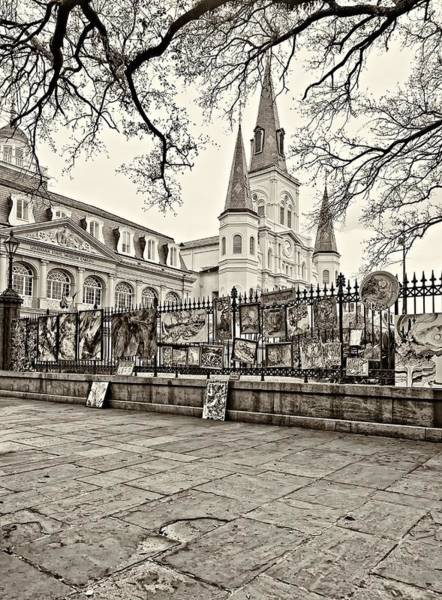 Steve Harrington Wall Art - Photograph - Jackson Square Winter Sepia by Steve Harrington