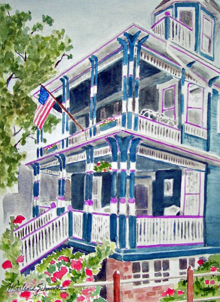 Cape May Painting - Jackson Street Inn Of Cape May by Marlene Schwartz Massey
