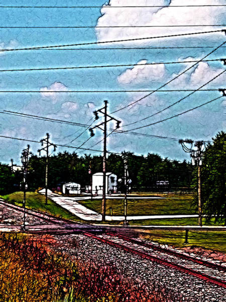 Photograph - Jacksonville Il Rail Crossing 2 by Jeff Iverson