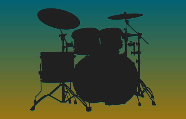 Drum Player Wall Art - Photograph - Jacksonville Jaguars Drum Set by Joe Hamilton