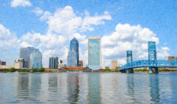 Painting - Jacksonville Skyline by Dean Wittle