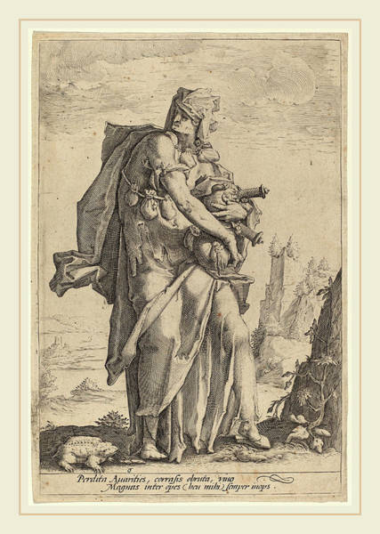 Wall Art - Drawing - Jacob Matham, Avarice, Dutch, 1571-1631 by Litz Collection