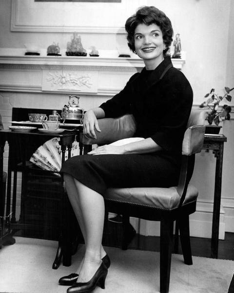 Wall Art - Photograph - Jacqueline Kennedy Sitting Pretty by Retro Images Archive