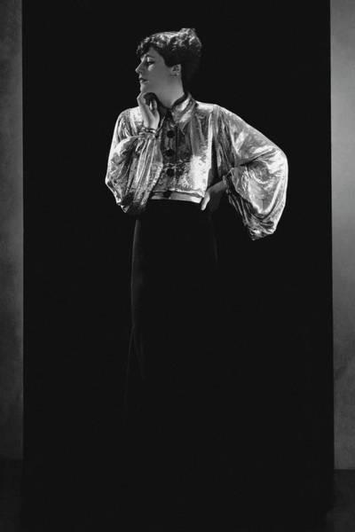 Lanvin Photograph - Jacqueline Quesnel Wearing Lanvin by Horst P. Horst