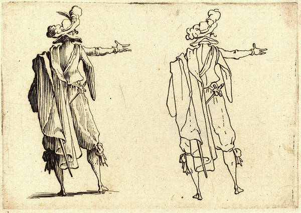 Wall Art - Drawing - Jacques Callot, French 1592-1635, Man Seen by Litz Collection