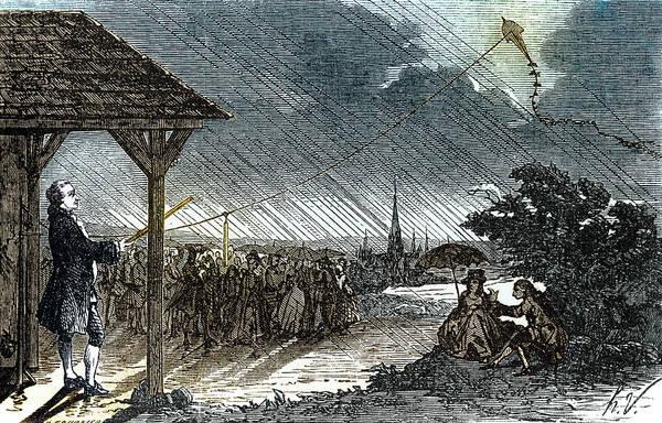 Kites Photograph - Jacques De Romas Kite Experiment, 1753 by Science Source