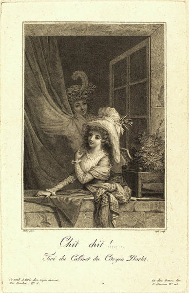 Stipple Drawing - Jacques-louis Copia After Jean-baptiste Mallet by Litz Collection