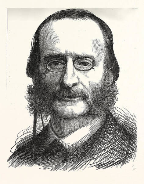 1880 Drawing - Jacques Offenbach, 1819 - 1880 by French School
