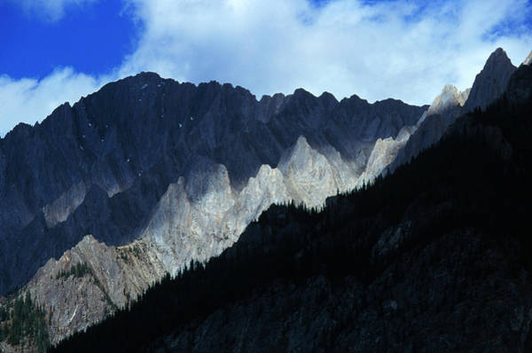 Solidity Photograph - Jagged Mountains Of Banff National by Todd Korol
