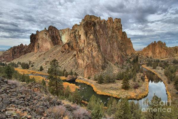 Photograph - Jagged Peaks And River Reflections by Adam Jewell