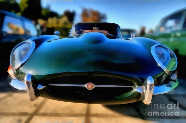 Historic Car Painting - 1967 Jaguar E Type by George Atsametakis