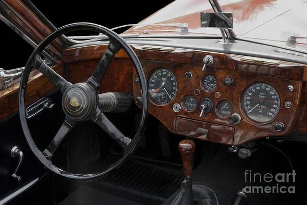 Photograph - Jaguar Odtimer Steering Wheel by Heiko Koehrer-Wagner