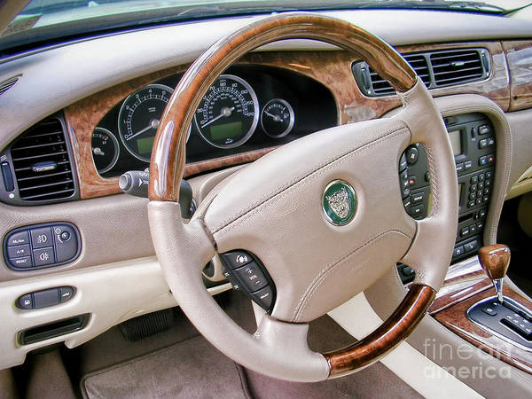 Wall Art - Photograph - Jaguar S Type Interior by Olivier Le Queinec