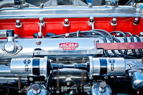 Photograph - Jaguar Type C Engine by Jill Reger