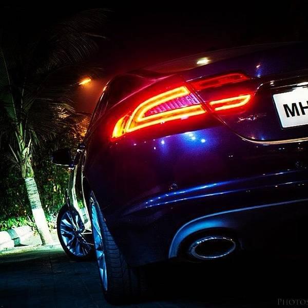 Jaguar Photograph - Jaguar Xf At Night. Photography By by Rachit Hirani