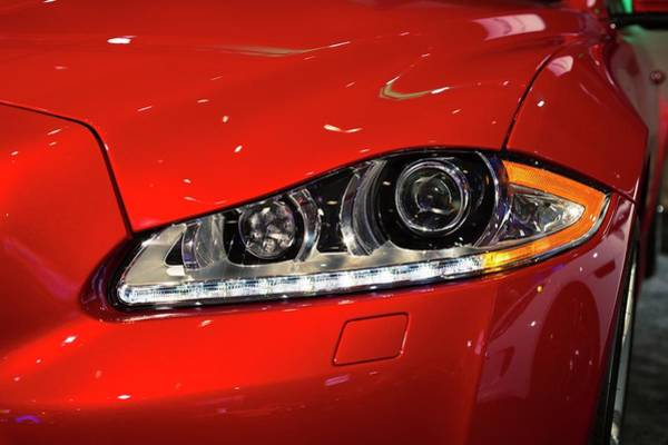 Car Show Photograph - Jaguar Xjr Headlights by Jim West