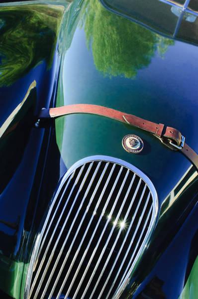 Photograph - Jaguar Xk 120 Grille by Jill Reger