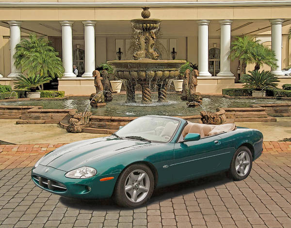 Photograph - Jaguar Xk8 by Larry Linton