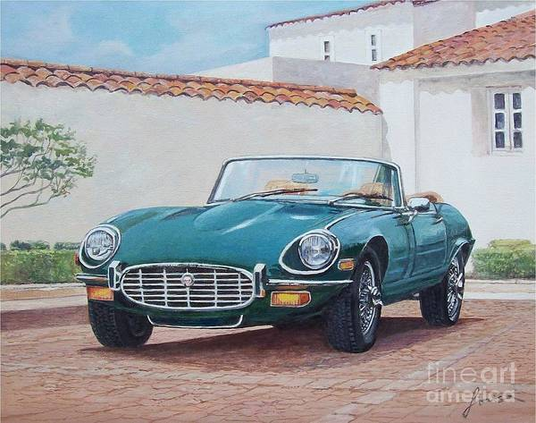 Painting - Jaguar Xke 1961-1975 by Sinisa Saratlic