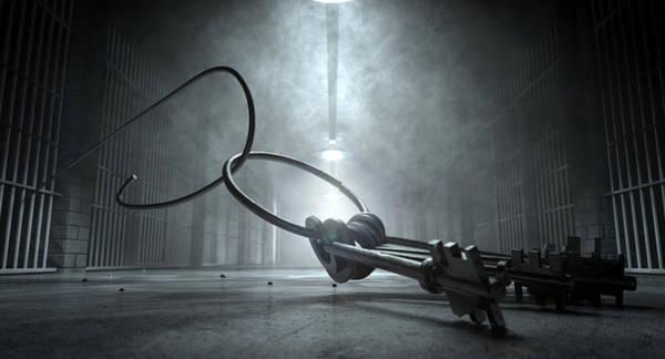 Escape Digital Art - Jail Break Keys And Prison Cell by Allan Swart