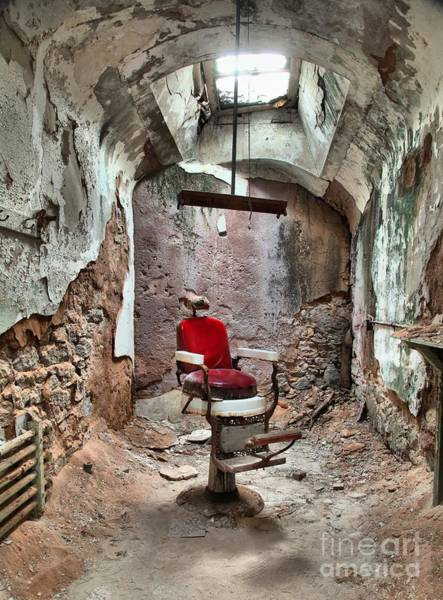 Photograph - Jail Cell Barber Shop by Adam Jewell