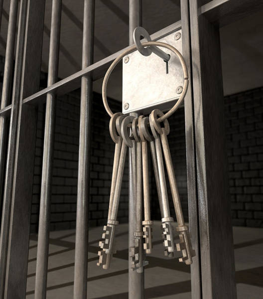 Cell Digital Art - Jail Cell Blues by Allan Swart