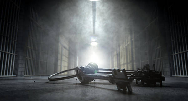 Apparition Digital Art - Jail Corridor And Keys by Allan Swart