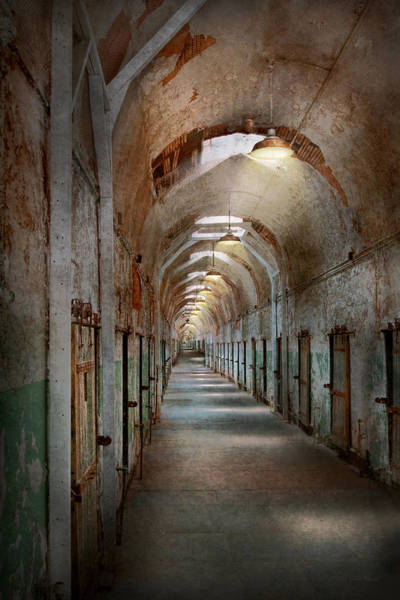 Photograph - Jail - Eastern State Penitentiary - Endless Torment by Mike Savad