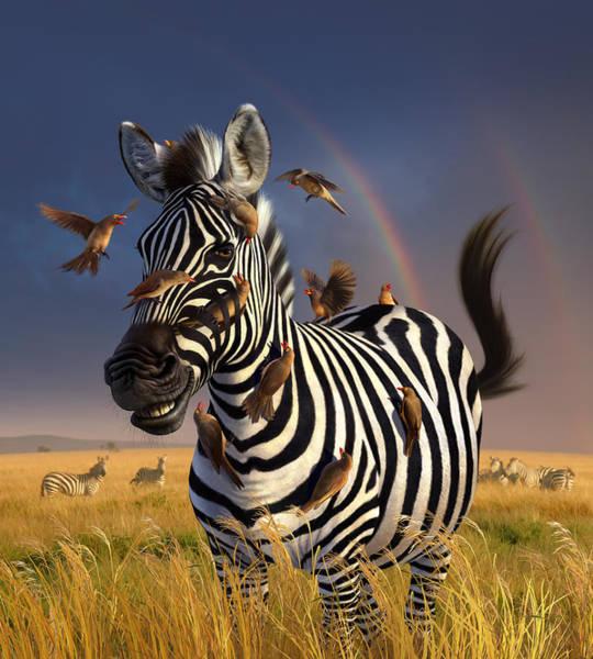 Wildlife Digital Art - Jailbird by Jerry LoFaro