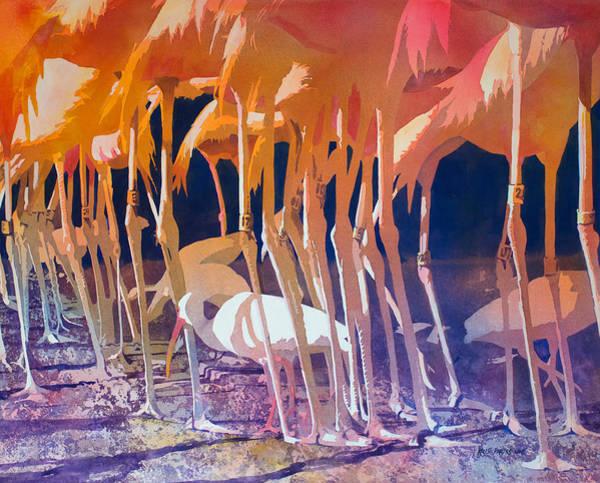 Shrimp Painting - Jailbirds by Kris Parins