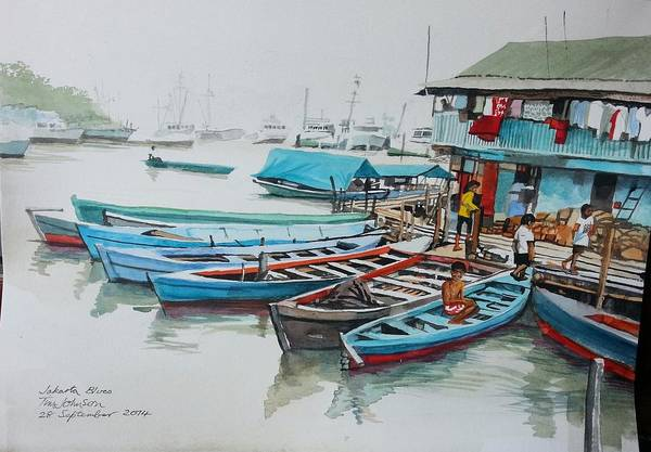 Painting - Jakarta Blues  by Tim Johnson