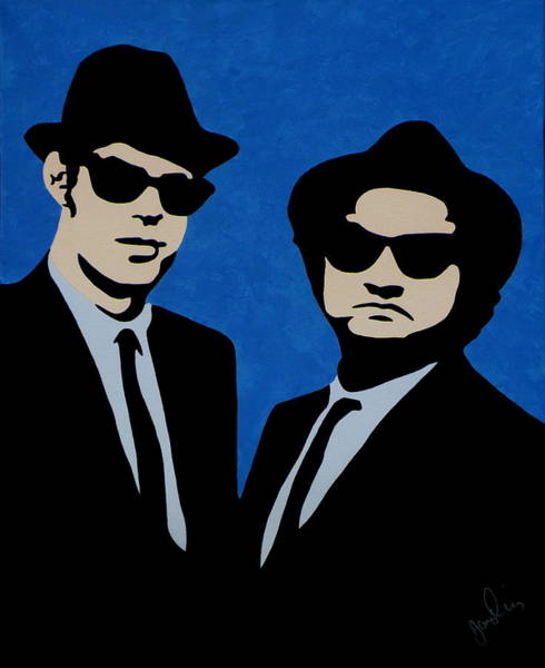 The Blues Brothers Painting - Jake And Elwood by Ian  King