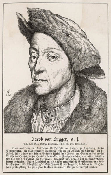 Wall Art - Drawing - Jakob Fugger (jakob II) German by Mary Evans Picture Library