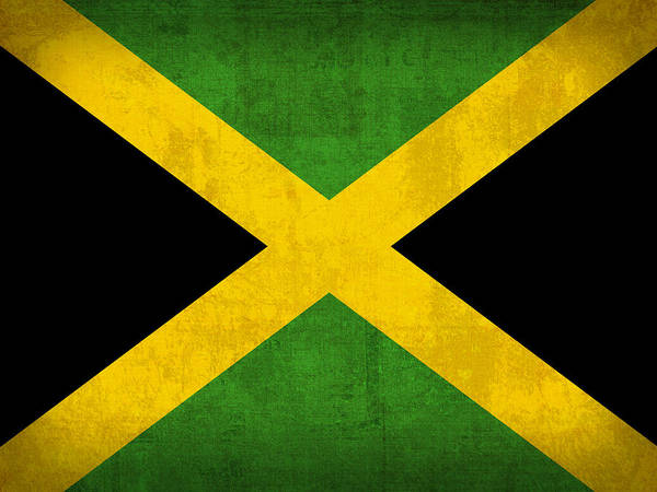 Nation Mixed Media - Jamaica Flag Vintage Distressed Finish by Design Turnpike
