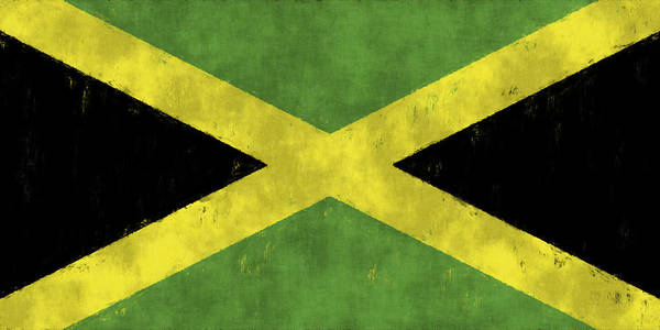 Jamaica Digital Art - Jamaica Flag by World Art Prints And Designs