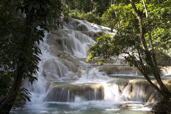 Alfresco Wall Art - Photograph - Jamaica Ocho Rios - Dunns River Falls by Tips Images