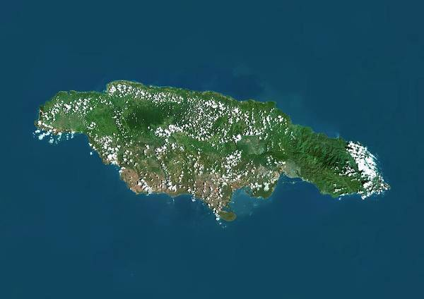 Landsat 7 Wall Art - Photograph - Jamaica by Planetobserver/science Photo Library