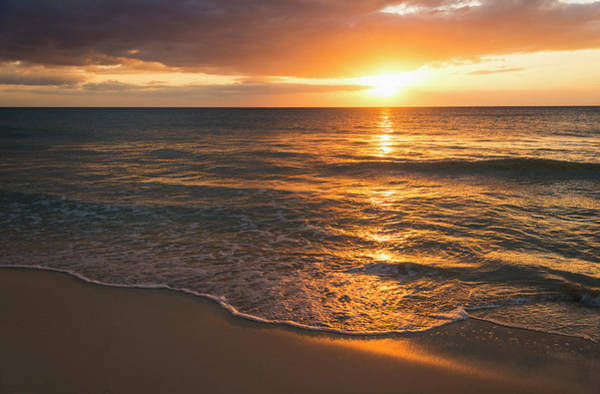 Jamaica Photograph - Jamaica, Sun Setting Over Sea by Tetra Images