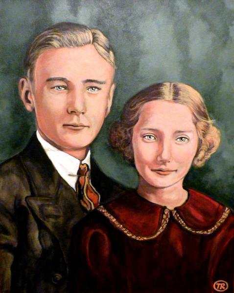 Painting - James And Ina K by Tom Roderick