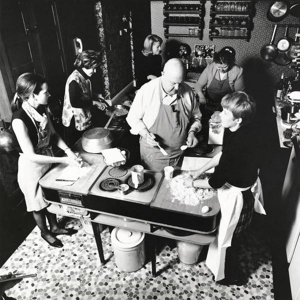 Bread Photograph - James Beard Teaching Students by Ernst Beadle