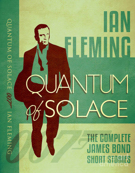 Quantum Digital Art - James Bond Book Cover Movie Poster Art 1 by Nishanth Gopinathan