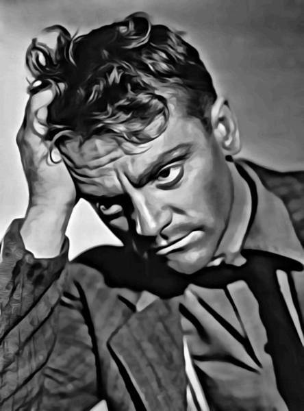 Painting - James Cagney Portrait by Florian Rodarte