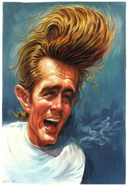 Celebrities Wall Art - Painting - James Dean by Art