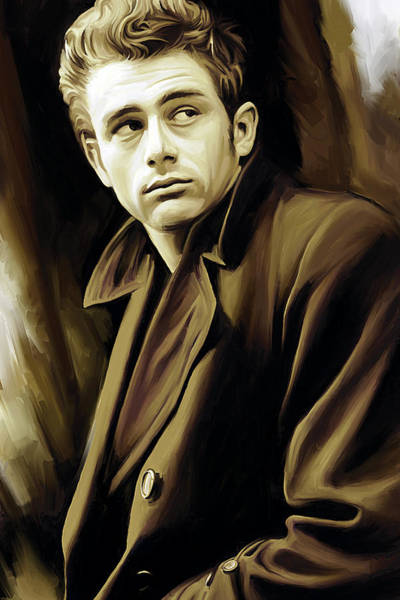 Rebel Painting - James Dean Artwork by Sheraz A