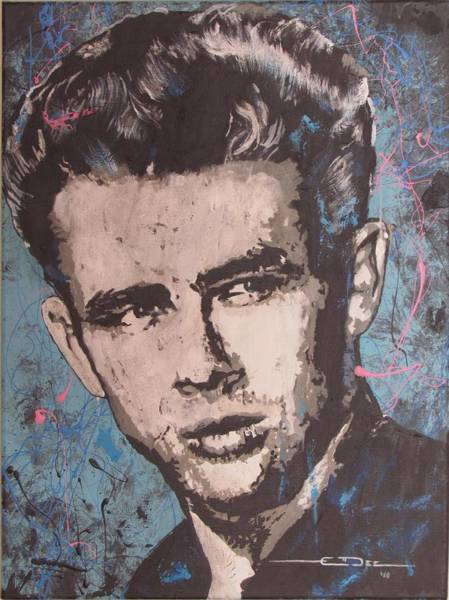 Painting - James Dean Blues by Eric Dee