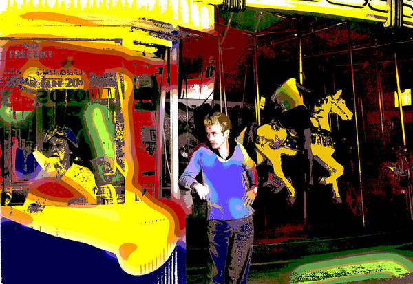 Carousel Mixed Media - James Dean  by Charles Shoup