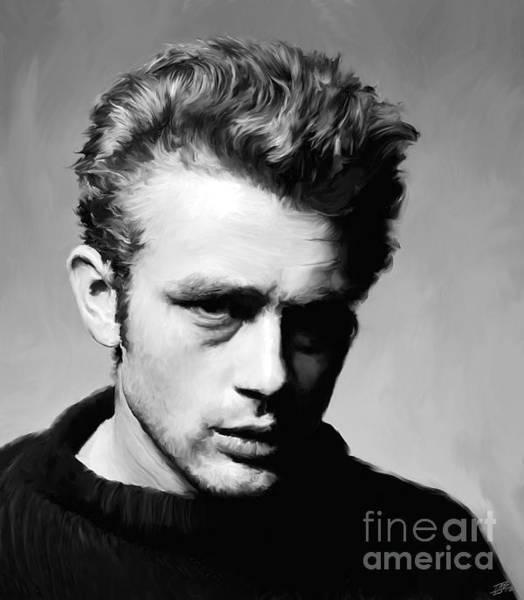 Racers Painting - James Dean - Portrait by Paul Tagliamonte