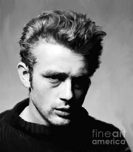 Rebel Painting - James Dean - Portrait by Paul Tagliamonte