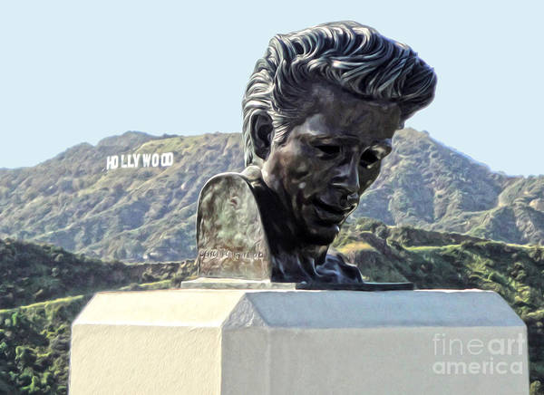 Photograph - James Dean Statue At Griffith Park Observatory by Gregory Dyer