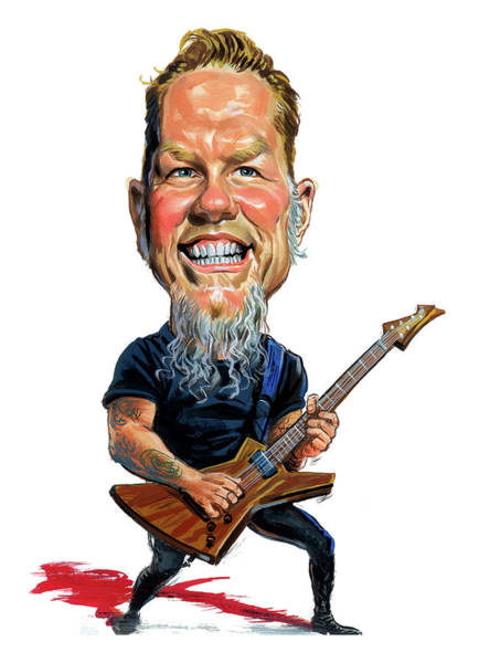 Thrash Metal Wall Art - Painting - James Hetfield by Art